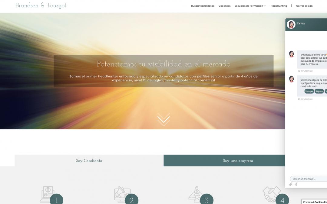 Lanzamos el primer Chatbot en una empresa de Headhunting especializado en el sector legal a nivel nacional
